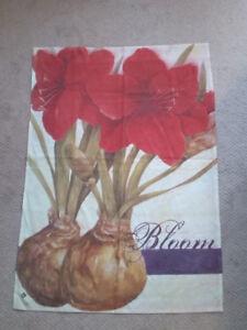 Outdoor/Indoor Art Flags, flowers for garden/home year round
