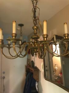 Lampe antique laiton