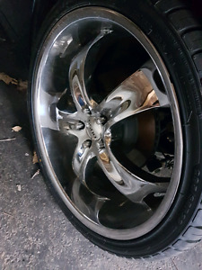 """22"""" Chrome Rims and New Tires"""