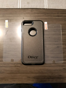 Otter box iPhone 8plus with 2 screen protector