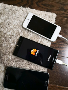 old cheap iPhone 5,Samsung  Galaxy S5, Huawei P7 100 dollars