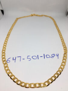 18K Gold Filled Curb Cuban Chain Necklace