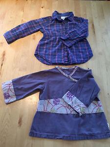 vêtements/souliers fille 12-24 mois:deux par deux, H&M, Joe...