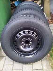 4 Winter tires 215  70  16  and wheels  5 x 114.3