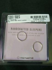 Sterling Silver Sleeper Style Earrings