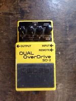 Dual Overdrive boss pedal