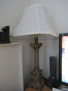 Vintage table lamp & shade