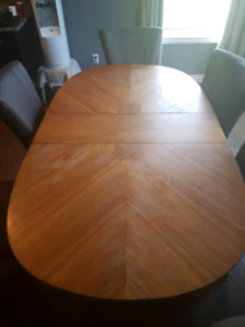 Solid wood hutch,chairs and table