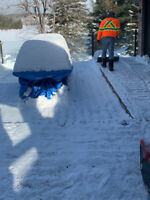 Deck, walkway, and roof snow removal
