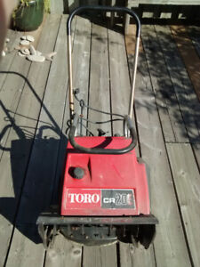 Older Toro single stage 2 cycle snowblower for sale cheap