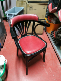 Vintage upright wooden chair