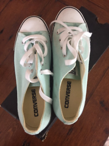 Mint Green Converse Sneakers