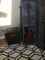 Ibanez SDGR Bass Guitar with Fender Rumble 25 Bass Amp