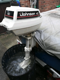 Dory boat on trailer with outboard (deposit given)