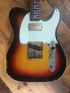 Nash TC-63 Telecaster w/Lollars, neck humbucker, double bound