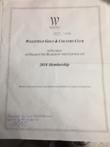 Westfield Golf & Country Club Membership for just $750