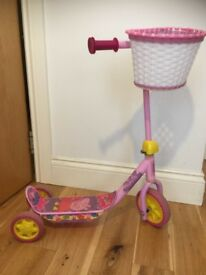 Peppa pig scooter with basket