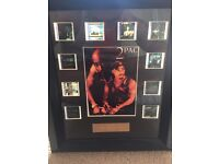 Framed authentic 2pac movie reel