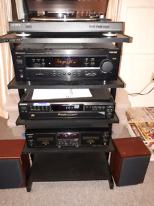 Pioneer and sony stereo system