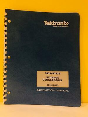 Tektronix 070-1766-00 7633r7633 Storage Oscilloscope Op. Instruction Manual
