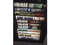 11 hardback books in excellent condition Andy mcnab