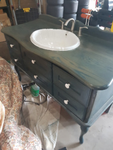 Bathroom Sink and old fashioned Counter