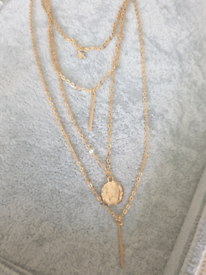 Gold layered necklace (not real gold)