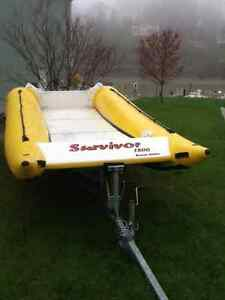 18' INFLATABLE BOAT AND TRAILER London Ontario image 3