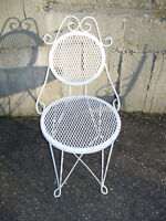 Ice Cream Parlour Chairs & Table (1970's)