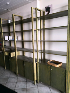 Shelves and salon equipments for sale