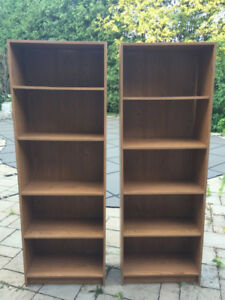 Matching Particle Board Shelving Units
