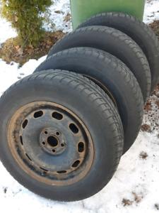 "195/65/15 Snows on 15"" VW rims"