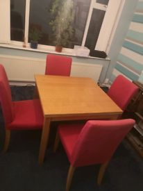 Fold out dining table and chairs (RESERVED)