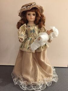 Genuine Porcelain Doll - Century Collection - hand painted