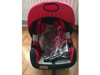 Fisher Price car seat with rain cover
