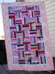Flannel lap or cot quilt cover