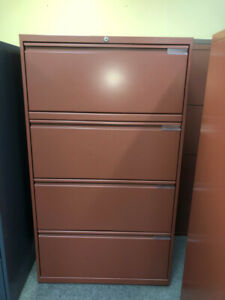 4 Drawer Lateral filing cabinet; Lateral filing cabinet