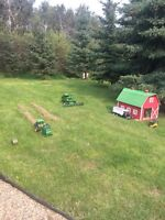 2 barns and a John Deere tractor