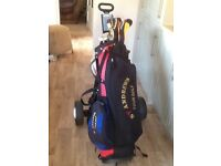St Andrews golf clubs bag & Trolly