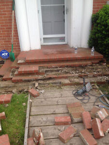 Brick / Marley roof / porch./chimney / retaining wall repair