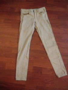 Garage Khaki High Waisted Stretch Jeggings