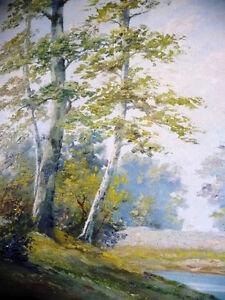 Landscape, T. Eaton's Fine Arts Department Original Oil Painting Stratford Kitchener Area image 8