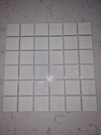Gloss white square tiles for sale x 24