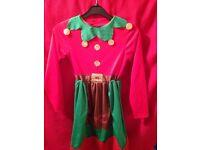 Girls santas little helper dress