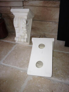 Wall Sconces for curtain rods or just decoratve. Shelve supports