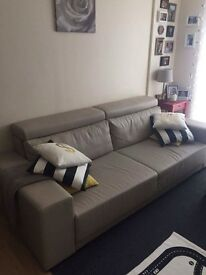 Sofa bed in light grey