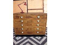Plan chest architects drawer