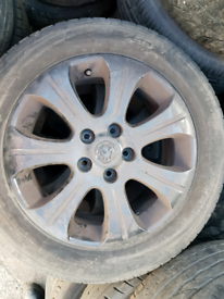 Set of 4 vauxhall Astra vectra alloy wheels rim with tyre