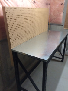 Whalen Steel Work Bench w/galv. steel top