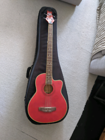 Acoustic bass guitar with good case